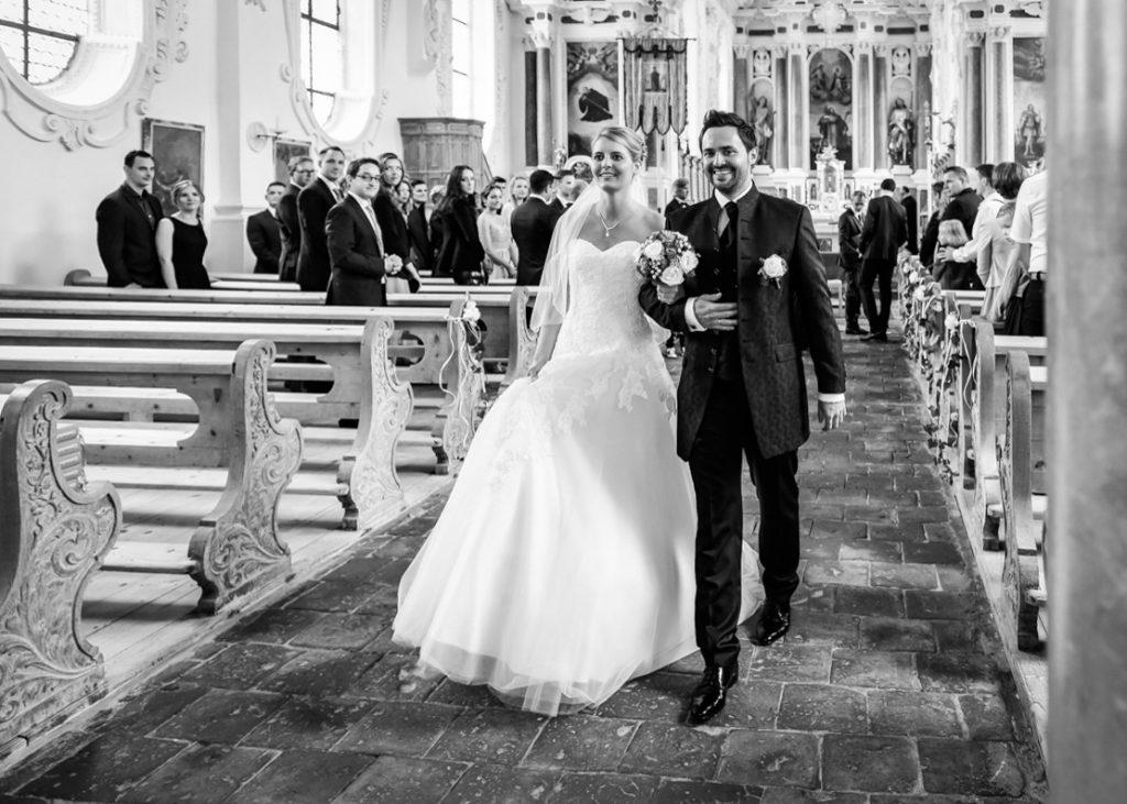 Fotograf Kempten Brautpaar Kirche Fuessen